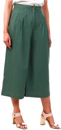 Veromoda Laurel Wreath High Waisted Culotte Trousers  - Click to view a larger image
