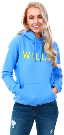 Jack Wills Blue Ainsdale Wills Pop Over Hoodie  - Click to view a larger image