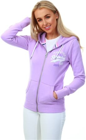 Superdry Purple Track & Field Zip Hoodie  - Click to view a larger image