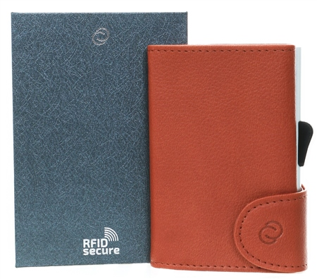 C Secure Light Brown Single Wallet  - Click to view a larger image
