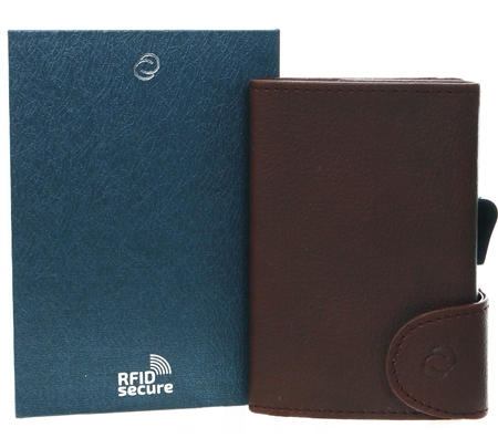 C Secure Brown Single Wallet  - Click to view a larger image