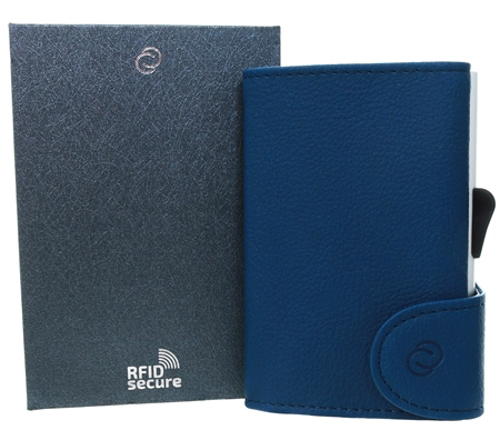 C Secure Navy Blue Single Wallet  - Click to view a larger image