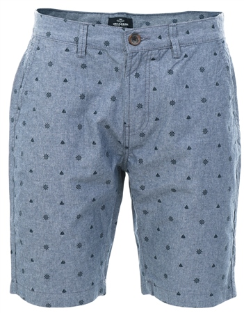 Threadbare Chambray Cottrill Pattern Short  - Click to view a larger image