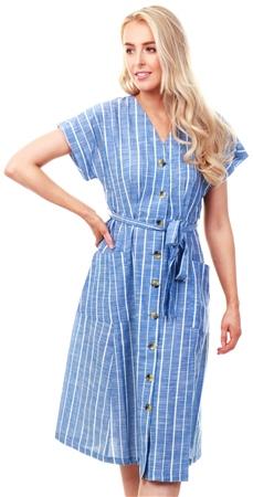 Veromoda Blue / Granada Sky Tie-Band Dress  - Click to view a larger image