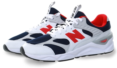 New Balance White X-90 Reconstructed