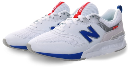 New Balance White 997h Lace Up Trainer  - Click to view a larger image