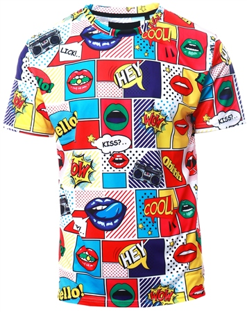 Soulstar Multi Graphic Printed T-Shirt  - Click to view a larger image