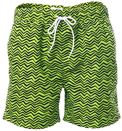 Threadbare Lime Formby Swim Shorts  - Click to view a larger image