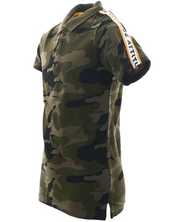d8149628 Threadbare Khaki Camo Polo T-Shirt     Shop the latest fashion online @ DV8