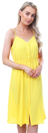 Veromoda Yellow Singlet Midi Dress  - Click to view a larger image