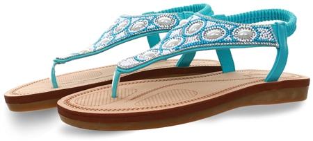 Dv8 Light Blue Embellished Stud Sandal  - Click to view a larger image