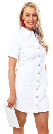 Urban Bliss White Cargo Pocket Button Up Dress  - Click to view a larger image