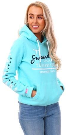 Superdry Mint Track & Field Hoodie  - Click to view a larger image