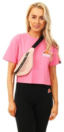 Ellesse Pink Manila Crop T-Shirt  - Click to view a larger image