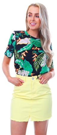 e7e0f4b577b Only Black Printed Short Sleeved Top | | Shop the latest fashion ...
