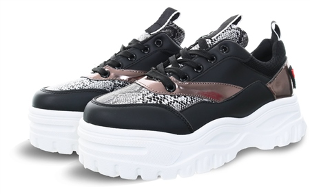 No Doubt Black Snake Chunky Trainer  - Click to view a larger image
