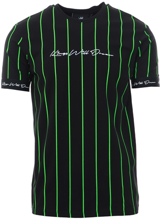Kings Will Dream Black Clifton Pinstripe T-Shirt  - Click to view a larger image