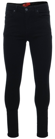 11degrees Jet Black Essential Super Stretch Jeans Skinny Fit  - Click to view a larger image