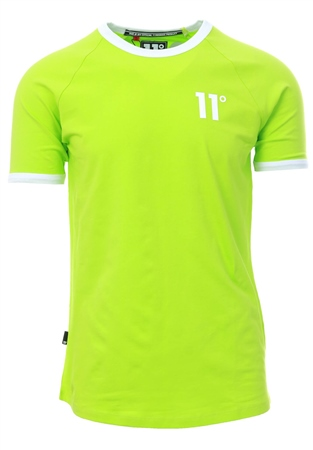 11degrees Lime Ringer T-Shirt  - Click to view a larger image