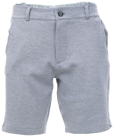 Nines Light Grey Hydra Cotton Blend Pique Shorts  - Click to view a larger image