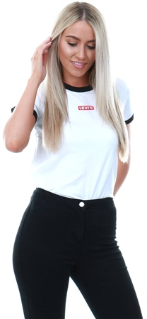 Levi's Ringer White - White Perfect Ringer Tee  - Click to view a larger image