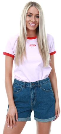 Levi's Pink Lady - Pink Perfect Ringer Tee Shirt  - Click to view a larger image