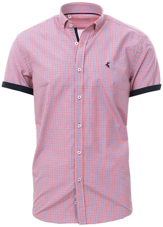 Ottomoda Red Check Pattern Short Sleevs Shirt  - Click to view a larger image