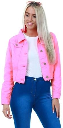 d72d560d Brave Soul Neon Pink Denim Jacket | | Shop the latest fashion online ...