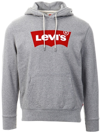 Levi's Midtone Heather Grey Graphic Hoodie  - Click to view a larger image