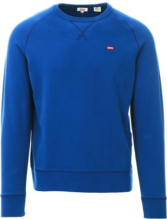 Levi's ® Sodalite Blue Chest Logo Crewneck Sweatshirt  - Click to view a larger image