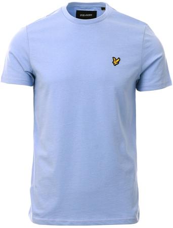 Lyle & Scott Blue Smoke Plain T-Shirt  - Click to view a larger image