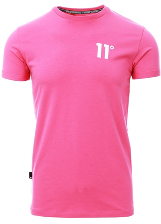 11degrees Bright Pink Core Muscle Fit T-Shirt  - Click to view a larger image