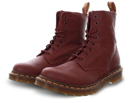 Dr Martens Cherry Red 1460 Pascal Virginia Boots  - Click to view a larger image