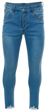 Kings Will Dream Light Blue Denim Carlton Cropped Distressed Jeans  - Click to view a larger image