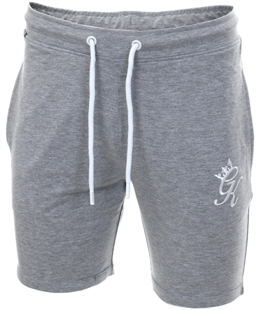 Gym King Grey Marl Gk Jersey Shorts  - Click to view a larger image