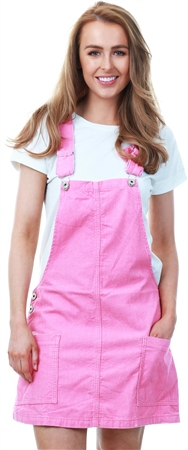 Dv8 Pink Cord Leawood Dungaree Dress  - Click to view a larger image