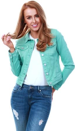 Veromoda Green Soya Denim Jacket  - Click to view a larger image