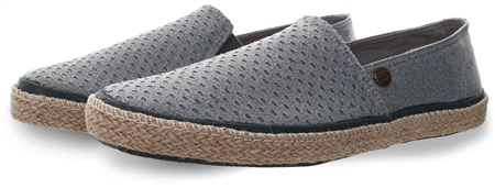 Superdry Grey Grit Airtex Adam Espadrilles  - Click to view a larger image