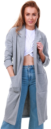 Brave Soul Grey Paulina Duster Jacket  - Click to view a larger image
