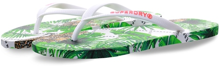 Superdry Leopard Geo Super Sleek All Over Print Flip Flops  - Click to view a larger image