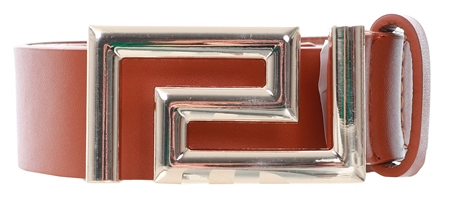 Impulse Tan Button Buckle Belt  - Click to view a larger image