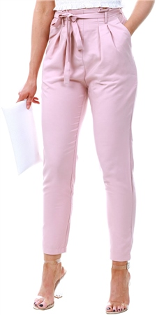 Lexie & Lola Dusty Pink Paper Bag Trousers  - Click to view a larger image