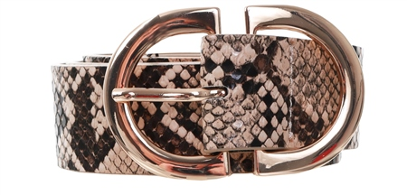 Pieces Natural Snake Printed Belt  - Click to view a larger image
