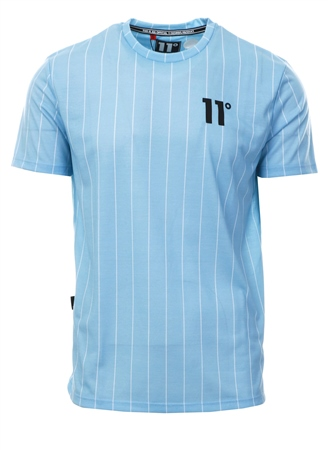 11degrees Lblue Stripe Short Sleeve T-Shirt  - Click to view a larger image