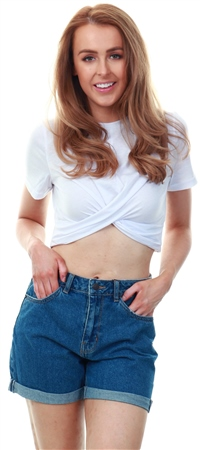 Glamorous Twist Crop Tee  - Click to view a larger image