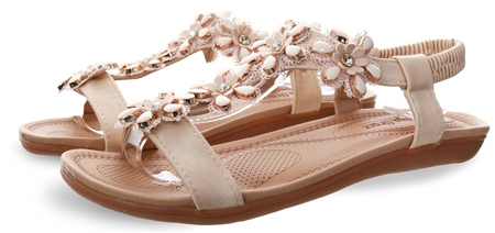 Krush Nude Embellished Stud Sandal  - Click to view a larger image