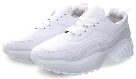 Krush White Chunky Lace Up Trainer  - Click to view a larger image