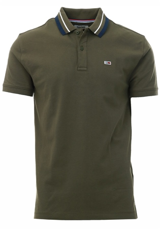 Hilfiger Denim Olive Cotton Slim Fit Polo  - Click to view a larger image