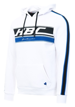 Heartbreaker Club White Trackstar Pull Over Hoodie  - Click to view a larger image