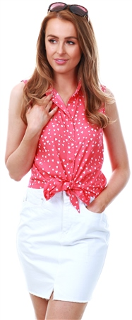 Brave Soul Red Polka Dot Tie Top  - Click to view a larger image